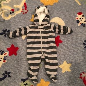 Baby Striped Bear ZIP Suit 3 months